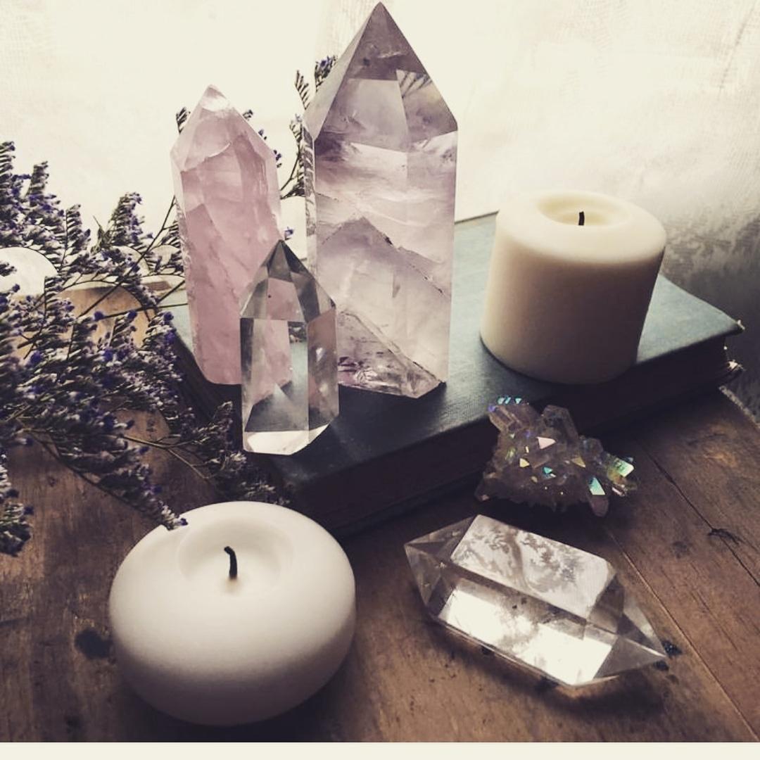 Candele e cristalli : come usarli per una sinergia energetica