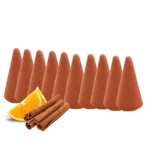 incensi in cono arancio e cannella