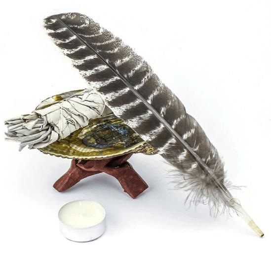 kit di purificazione con salvia bianca e abalone